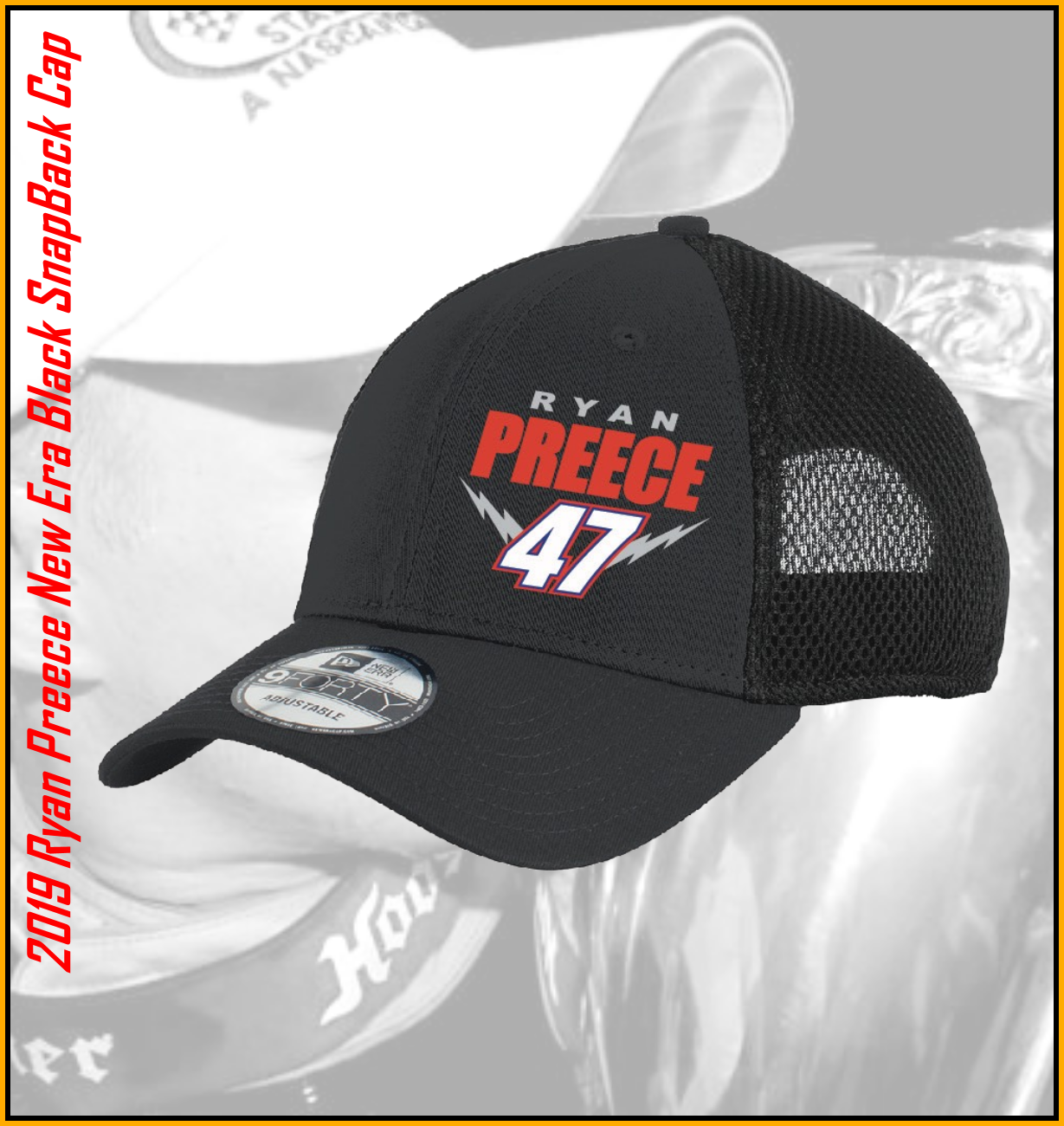 662804edf 2019 Ryan Preece New Era Black SNAPBACK Mesh Hat